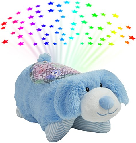 Pillow Pets Sleeptime Lites My First Blue Puppy Stuffed Animal Plush Night Light ()