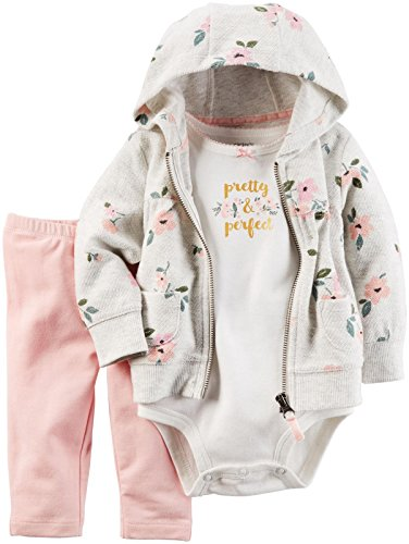 Carter's Baby Girls 3 Pc Sets 127g223, Floral, 3M