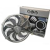 Zirgo 10215 Chrome 14'' 2122 fCFM High Performance Blu Cooling Fan