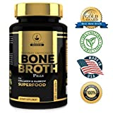 Bone Broth Protein Powder Superfood Capsules – Organic Dehydrated Grassfed Beef + Chicken Powder Blend Pills – Non-GMO – Great Source of Collagen + Bone Broth Protein (180 Capsules Total) For Sale