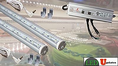 2x 5ft walk in cooler fridge LED light with UL listed power supply showcase led light