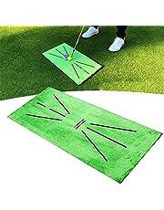 Golfschommeldetectie Slagmat Golf Training Hitting Mat Mini Golf Praktijk Training Aid Tapijt Golf Strike Impact mat Feedback voor Home Office Outdoor Zachte Fluwelen Turf Slaan mat