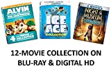 ice age blu ray collection - Fox Franchise Ultimate Kids & Family 12-Movie Blu-ray Collection: Night at the Museum 1, 2, 3 / Alvin & the Chipmunks 1, 2, 3, 4 / Ice Age 1, 2, 3, 4, 5