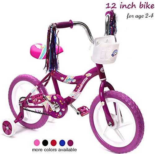 ChromeWheels Kids' Bike 12-16 inch with Training Wheels and EVA Tire, Girls Boys Bike for 2-6 Years Old