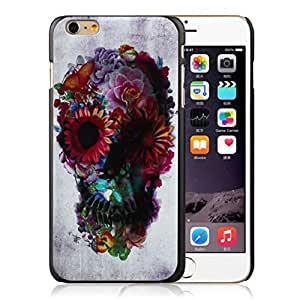 Mokingtop Cute Nice Fashion Skull Flower Pattern Hard Skin Case Cover For iPhone 6 Plus 5.5 inch