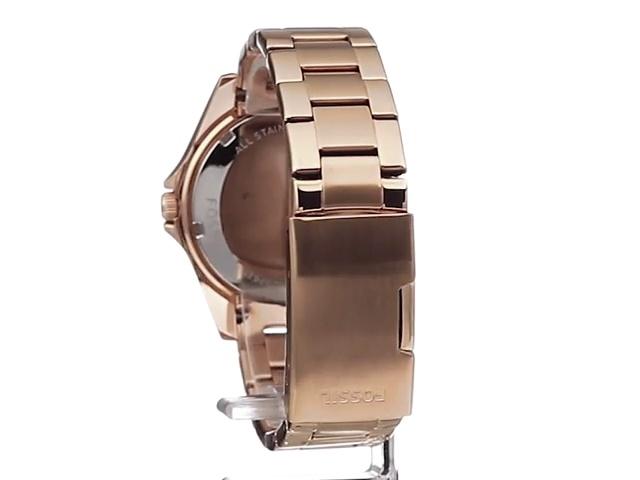 Fossil Women's Riley Stainless Steel Multifunction Glitz Quartz Watch 7
