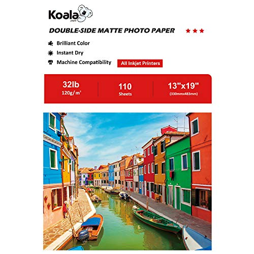 Koala Double Sided Matte Photo Paper 13x19 Inches 120gsm 110 Sheets Compatible with All Inkjet Printer