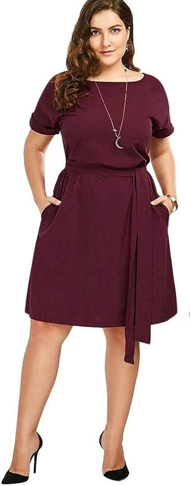 Amazon Com Vestidos Tallas Grandes Mas El Tamano De Las Mujeres Ropa De Moda Para Gorditas Xl Mujer Sexys Casuales Largos De Fiesta Elegantes Rojos Moderno Xl Clothing
