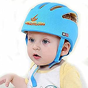 Hi8 Store Baby Toddler Safety Adjustable Helmet Head Protection Hat for Walking Harnesses (Blue)