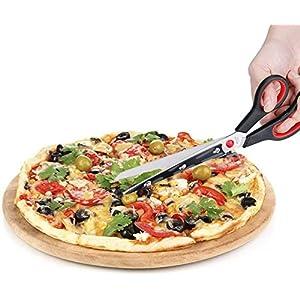 Ducomi Forbici Tagliapizza, Forbice per Pizza in Acciaio con Base Paletta di Servizio per Sporzionare - Taglia Pizza…
