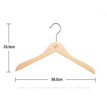 LANGMANZHUYI Suspensión del roble,Antideslizante madera rastro no ropa colgante suspensión de madera del hotel