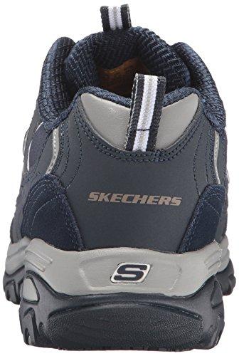 Skechers Work Womens DLites Slip-Resistant Pooler Work Shoe Navy/Charcoal