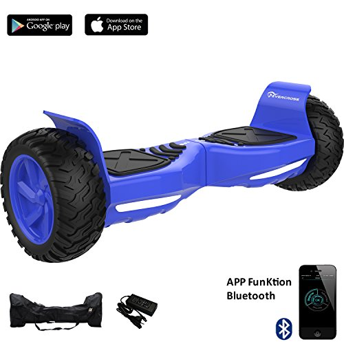 UPC 715776666489, EverCross Challenger Basic Hoverboard Self Balancing Scooter SUV 8.5 All-Weather Tire Hover Through Tough Road Condition Bluetooth APP (Blue)
