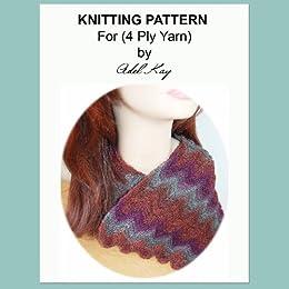 Elen Unisex Chevron Long Scarf 4ply Yarn Knitting Pattern Kindle
