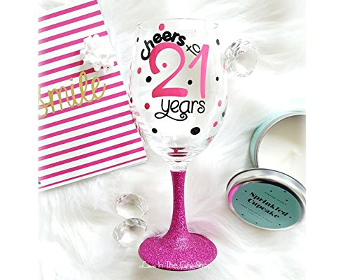Amazon 21st Birthday Wine Glass Gift For Her