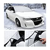 Car Windshield Snow Cover, MDEK Frost Screen Magnetic Cover for Winter & Summer Car Protector