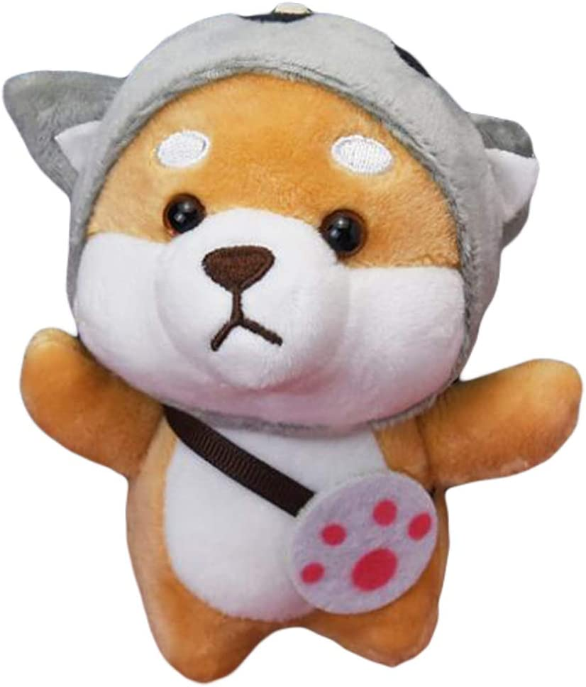 Plush Dog Keychain Stuffed Animal Doll Ornaments Pendant Car Handbag Keyring, 4