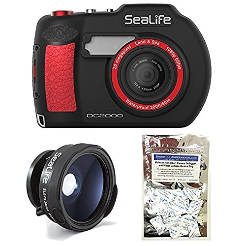 Sea Camera Lens Life (SeaLife DC2000 20MP Underwater Camera SL740 w/ Wide Angle Lens SL970 and Moisture Absorbers)