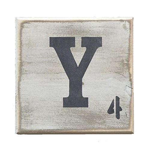 Pine Designs, Distressed Styled Letter Scrabble Tile 5.5