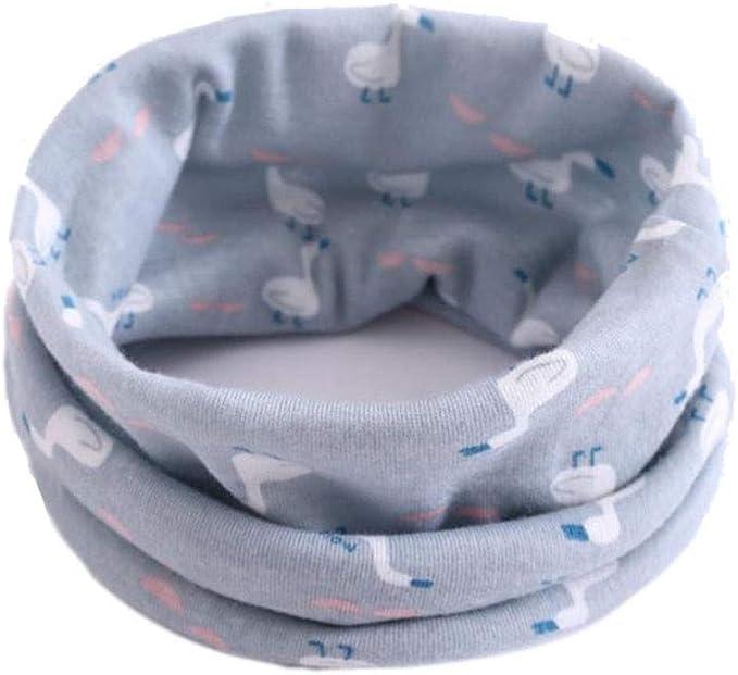 Baby Bandana Scarves Soft Cotton Circle Scarf Lonshell Toddler Boys Girls O Ring Collar Neck Neckerchief Keep Warmer Infinity Loop Scarves Snood