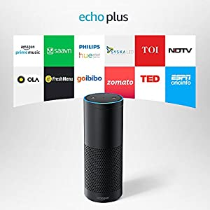 Echo Plus with built in smart home hub - Voice control your music, Get news, weather & more, Powered by Dolby (Includes 1 Year Prime Membership) - Black