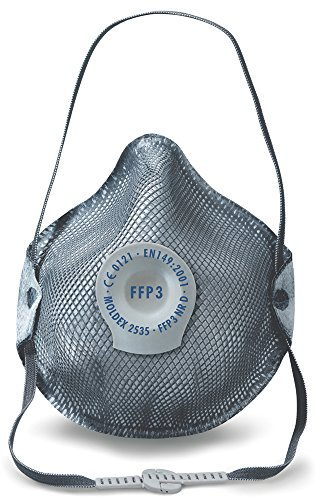 Ffp3 Mask (Moldex 2535 Smart Ozon FFP3 NR D with Air Valve Respiratory Mask (10 Piece))