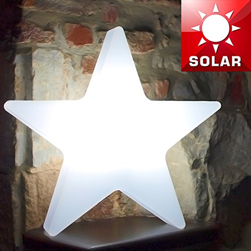 Pavimento Plastica Da Giardino.Mia Light Stella Lampada Solare O1000 Mm Led Modern Bianco