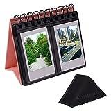 Sunmns Desk Table Calendar Style Photo Album for Fujifilm Instax Mini 7s 8 25 50s 70 90 26 9/ Polaroid Z2300 PIC-300P Snap Zip Films, Pink