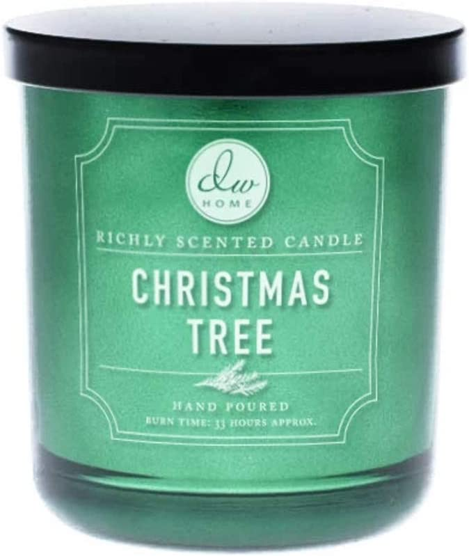 DW Home Holiday Favorites Richly Scented Candle Medium Single Wick Hand Poured 9 Oz (Christmas Tree)