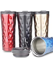 Double Y 500 ml Bouteille thermoses isotherme, Acier inoxydable Mug à café de transport Black-lxb