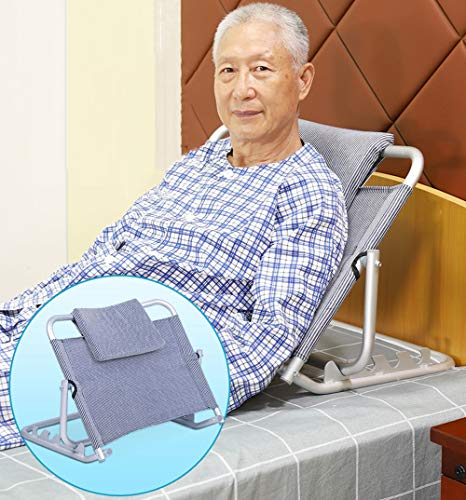 Bed Backrest,Disability Mobility Aid Adjustable Sit-up Back Rest for Orthopedic Neck, Head and Lumbar Support, Aluminum Alloy& Breathable Fabric 68 * 9 * 54.5cm from DGSD
