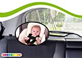 Babyblume Universal Autositz Rücksitzspiegel für Babys,Ideal als Ergänzung zu Reboard Kindersitzen und Babyschalen - konvexe Wölbung (z.B. Maxi Cosi, Osann, Cybex) (Oval)