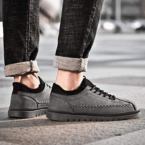 Scarpe Alla Uomo Da Basse Piatte scarpa Popolari Sportive Elegante Beikoard Moda Grigio Casual Vintage qHF50tx