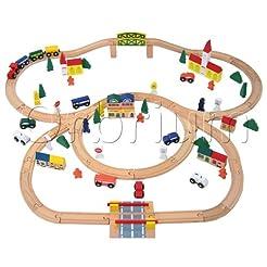100-Piece Orbrium Toys Triple-Loop Woode...