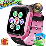 Kids Smart Watch Phone,1.44' Touch GPS Tracker Smart Wrist Watch for Boys Girls with Pedometer Camera SIM Card Anti-Slot SOS Game Smartwatch for Holiday Birthday Electronic Toys