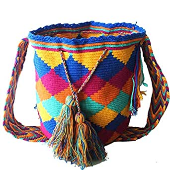 WAYUU Canvas Bag For Women,Multi Color - Crossbody Bags