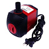 COODIA 320GPH (1200L/H) Aquarium Submersible Pump 25W 6.5ft High Lift Fountain Water Pump For Aquarium, Fish Tank, Pond, Hydroponics and Graden Sparying with 5.9ft (1.8M) Power Cord, 2 Nozzles