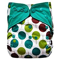 EcoAble Baby Charcoal Bamboo All-In-One AIO Cloth Diaper w/ Pocket, Size 10-3...