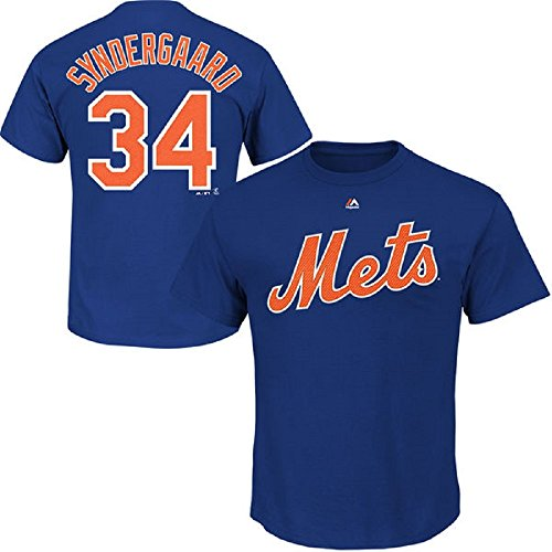 Majestic Noah Syndergaard Youth New York Mets Blue Name and Number Jersey T-shirt X-Large 18-20