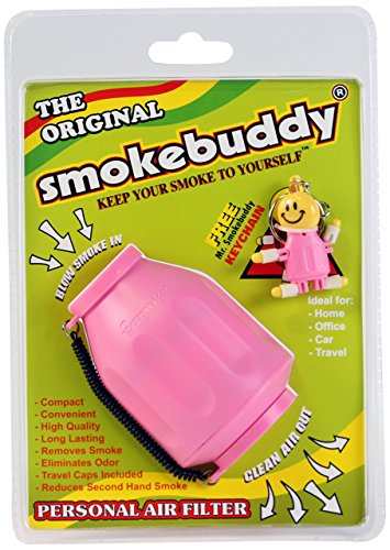 Smoke Buddy Personal Air Purifier Cleaner Filter Removes Odor - Pink (Best Portable Herb Vape)