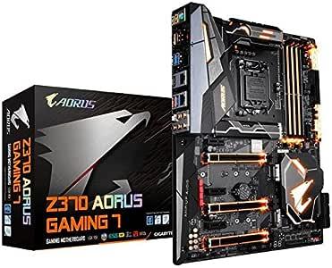 GIGABYTE Z370 AORUS Gaming 7 (Intel LGA1151/ Z370/ ATX/ 3xM.2/ M.2 Thermal Guard/Front USB 3.1 /ESS Sabre DAC/RGB Fusion/Fan Stop/SLI/Motherboard)