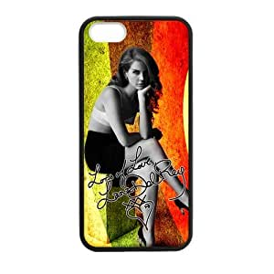 Custom Lana Del Rey Hard Back Cover Case for iPhone 5,5S TPU (Laser Technology)