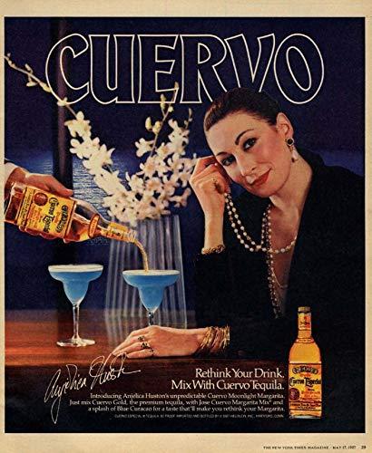 Angelica Huston for Cuervo Especial Tequila ad 1987 - Cuervo Tequila Especial