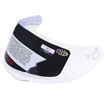 Visera exterior de iridio, compatible con casco antiarañazos AGV K3 SV K5 316 902, visera para motocicleta D7 J7 Tamaño libre transparente
