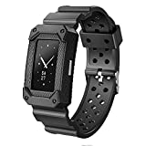 WISHTA Replacement Sports Bands for Fitbit Charge 2,Classic Rugged Accessories Wristband for Fitbit Charge 2 HR(NO Tracker) (Black)