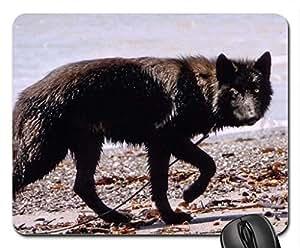 Black Hunter Cute Cool Decorative Design Animal Dog Mousepad