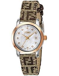 FENDI watch round Classico white pearl dial diamond F218242DF