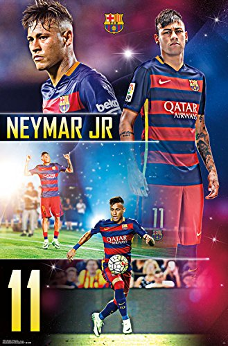 56fb7ff4a Image Unavailable. Image not available for. Color  Trends International FC  Barcelona Neymar Jr Wall Poster ...