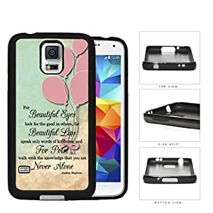 Cute Audrey Hepburn Life Quote with Vintage Pink Balloons Wallpaper Cell Phone Case Cover Samsung Galaxy S5 I9600