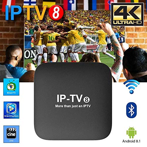 TV Box Bresil - 2019 IPTV8 Brazilian Channels TV Box - A3 4K Brazilian IP TV Channels - Over 250 Brazilian Box Channels - Performant System Brasil Canasis - Football, Movies, and News